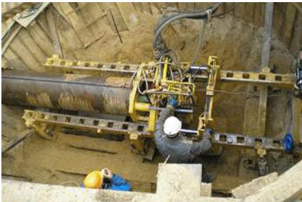 Рис 1 прокладка трубопровода методом
