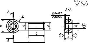 ГОСТ 14724-69 Болты откидные. Конструкция (с Изменениями N 1, 2)