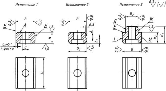 ГОСТ 14737-69 Шпонки призматические привертные. Конструкция (с Изменениями N 1, 2, 3)