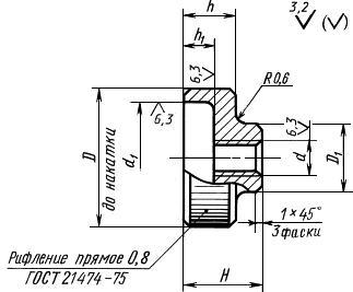 ГОСТ 14726-69 Гайки с накаткой. Конструкция (с Изменениями N 1, 2)