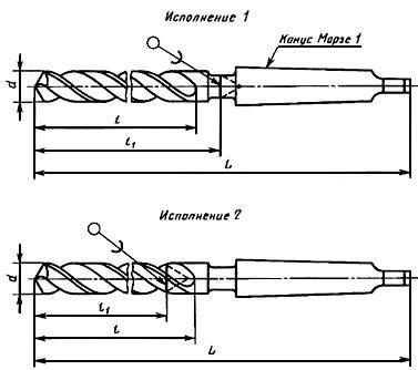 ГОСТ 17276-71 Сверла спиральные цельные твердосплавные с коническим хвостовиком. Конструкция и размеры (с Изменениями N 1, 2)