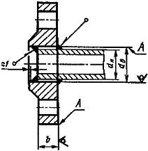 Конструкция фланца ГОСТ 12820-80. Для Ру от 0,1 до 1,0 МПа