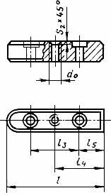 ГОСТ 8790-79 Основные нормы взаимозаменяемости. Соединения шпоночные с призматическими направляющими шпонками с креплением на валу. Размеры шпонок и сечений пазов. Допуски и посадки (с Изменениями N 1, 2)