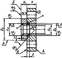 Конструкция фланца ГОСТ 12822-80. Для Ру от 0,1 до 1,0 МПа