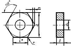 ГОСТ 19067-80 Пластины режущие сменные многогранные твердосплавные шестигранной формы с отверстием. Конструкция и размеры (с Изменением N 1)