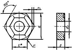 ГОСТ 19068-80 Пластины режущие сменные многогранные твердосплавные шестигранной формы с отверстием и стружколомающими канавками на одной стороне. Конструкция и размеры (с Изменениями N 1, 2)
