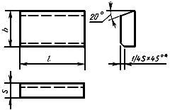 ГОСТ 25409-90 Пластины твердосплавные напаиваемые типа 24. Конструкция и размеры