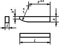ГОСТ 25425-90 Пластины твердосплавные напаиваемые типа 26. Конструкция и размеры