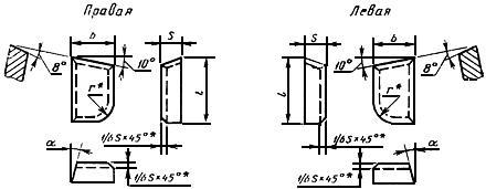 ГОСТ 25426-90 Пластины твердосплавные напаиваемые типов 07, 67. Конструкция и размеры
