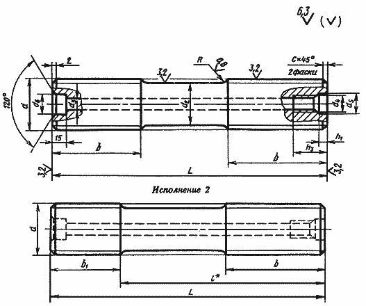 ГОСТ 9066-75 Шпильки для фланцевых соединений с температурой среды от 0°С до 650°С. Типы и основные размеры (с Изменениями N 1, 2)
