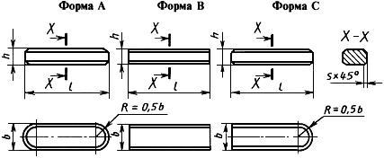 ГОСТ 29175-91 (ИСО 2491-74) Основные нормы взаимозаменяемости. Шпонки призматические низкие и шпоночные пазы. Размеры и допуски