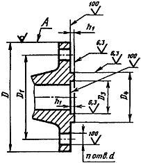 Конструкция фланца ГОСТ 12815-80. Исполнение 8
