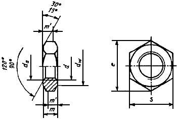 ГОСТ 10607-94 (ИСО 4035-86) Гайки шестигранные низкие (с фаской) с диаметром резьбы свыше 48 мм класса точности В. Технические условия