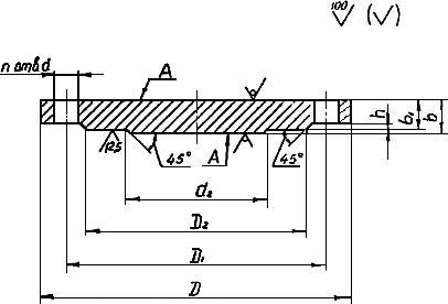 АТК 24.200.02-90 Альбом типовых конструкций. Заглушки фланцевые стальные. Конструкция, размеры и технические требования (с Изменениями N 1, 2)