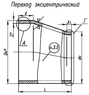 СТО 79814898 115-2009 Детали и элементы трубопроводов атомных станций из коррозионно-стойкой стали на давление до 2,2 МПа (22 кгс/кв. см). Переходы бесшовные. Конструкция и размеры (с Изменением N 1)