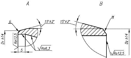СТО 79814898 116-2009 Детали и элементы трубопроводов атомных станций из коррозионно-стойкой стали на давление до 2,2 МПа (22 кгс/кв. см). Переходы точёные. Конструкция и размеры (с Изменением N 1)