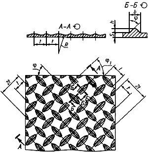 ГОСТ 8568-77 Листы стальные с ромбическим и чечевичным рифлением. Технические условия (с Изменениями N 1, 2, 3, 4, с Поправкой)