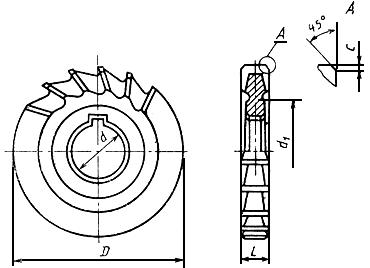 ГОСТ 28527-90 Фрезы дисковые трехсторонние. Типы и размеры