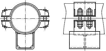 ОСТ 24.125.154-01 Опоры скользящие трубопроводов ТЭС и АЭС. Конструкция и размеры