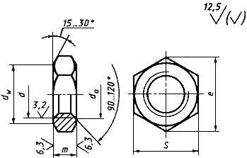 ГОСТ 2526-70 Гайки шестигранные низкие с уменьшенным размером
