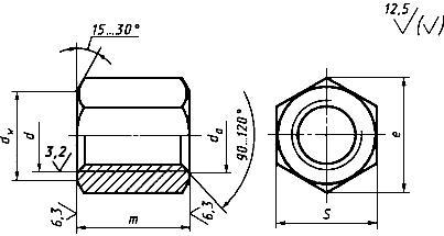 ГОСТ 5931-70 Гайки шестигранные особо высокие класса точности A. Конструкция и размеры (с Изменениями N 2-7)