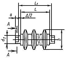 ГОСТ 22646-77 (СТ СЭВ 1334-78) Конвейеры ленточные. Ролики. Типы и основные размеры (с Изменениями N 1-4)