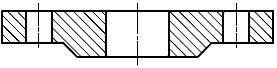 Конструкция фланца ГОСТ Р 54432-2011. Тип 01. Фланец стальной плоский приварной