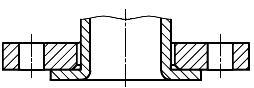 Конструкция фланца ГОСТ Р 54432-2011. Тип 03. Фланец стальной свободный на отбортовке