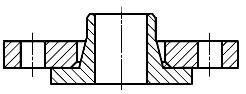 Конструкция фланца ГОСТ Р 54432-2011. Тип 04. Фланец стальной свободный на хомуте под приварку