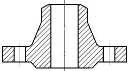 Конструкция фланца ГОСТ Р 54432-2011. Тип 11. Фланец стальной приварной встык