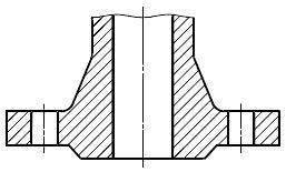 Конструкция фланца ГОСТ Р 54432-2011. Тип 21. Фланец корпуса арматуры