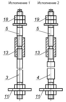 ГОСТ 24379.1-2012 Болты фундаментные. Конструкция и размеры