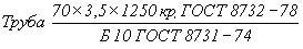 ГОСТ 8732-78 Трубы стальные бесшовные горячедеформированные. Сортамент (с Изменениями N 1, 2)