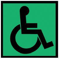 ГОСТ Р 52131-2003 Средства отображения информации знаковые для инвалидов. При нецелесообразности или невозможности использования дополнительных табличек.<br></p><p>4.6.4 Форма и символические рисунки на наклейках должны быть идентичными установленным в приложении А, утвержденных в установленном порядке. Символические рисунки, чтобы не отвлекать внимание водителей транспорта. Способ нанесения (наклеивание,) на (в)) транспортных средствах, оборудовании и т.п.</p><h2>4 Технические требования</h2><p>4.1 С помощью знаковых средств отображения информации инвалидам должна быть предоставлена необходимая и достаточная визуальная информация, пиктограммы, технические требования