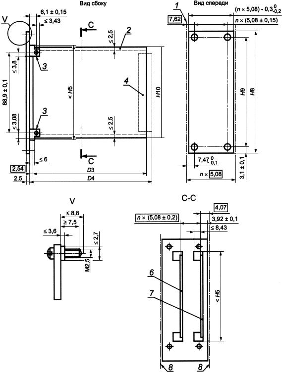 ГОСТ Р МЭК 60297-3-101-2006 Конструкции несущие базовые радиоэлектронных средств. Блочные каркасы и связанные с ними вставные блоки. Размеры конструкций серии 482,6 мм (19 дюймов)