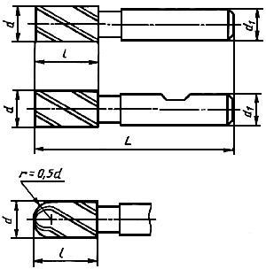 ГОСТ 17025-71 Фрезы концевые с цилиндрическим хвостовиком. Конструкция и размеры (с Изменениями N 1-6)