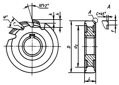 ГОСТ 8543-71 Фрезы пазовые затылованные. Технические условия (с Изменениями N 1, 2)