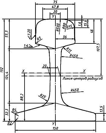 ГОСТ Р 51685-2000 Рельсы железнодорожные. Общие технические условия (с Поправкой, с Изменениями N 1, 2)